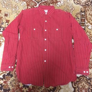 ザリアルマッコイズ(THE REAL McCOY'S)のリアルマッコイズ 赤×黒ストライブワークシャツ 8HOUR UNION(シャツ)