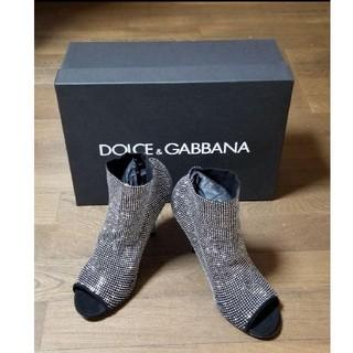 ドルチェアンドガッバーナ(DOLCE&GABBANA)のDOLCE&GABBANA ドルガバ オープントゥ ブーティ ブーサン(ブーツ)