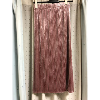 ジーユー(GU)のロングスカート ピンク (ロングスカート)
