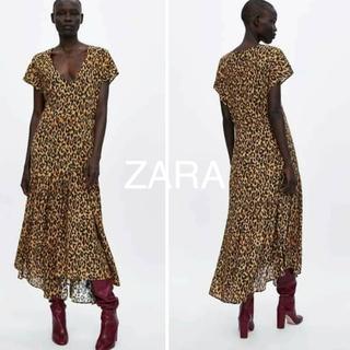 ザラ(ZARA)の新品タグ付ZARAレオパード柄ロングスカートM(ロングスカート)