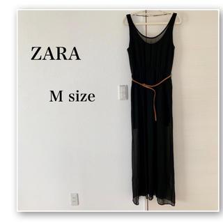 ザラ(ZARA)のZARA♡マキシワンピ♡黒♡ドレス♡外国♡リゾート♡海外♡セクシー♡シースルー(ロングワンピース/マキシワンピース)
