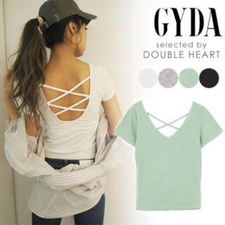 GYDA - 新品未開封 GYDA BACKレースアップTシャツ