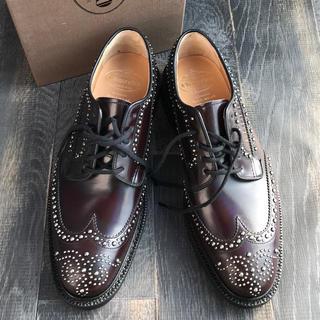 チャーチ(Church's)のチャーチ グラフトン スタッズ  173バーガンディ革靴65 6 メンズ 紳士(ドレス/ビジネス)