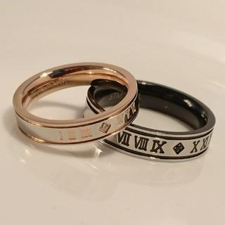 名入れ無料 平仮名 漢字可 ローマナンバー ジルコニア ペア リング 2個 (リング(指輪))