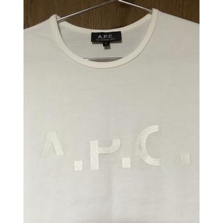 新品 APC A.P.C. ロゴ刺繍 半袖 Tシャツ S メンズ