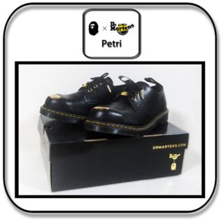 アベイシングエイプ(A BATHING APE)のドクターマーチン x BAPE Petri スチールトゥ 3ホール 黒 26cm(ドレス/ビジネス)