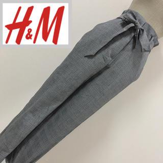 エイチアンドエム(H&M)の新品未使用 H&M ペーパーバッグパンツ グレンチェック(クロップドパンツ)