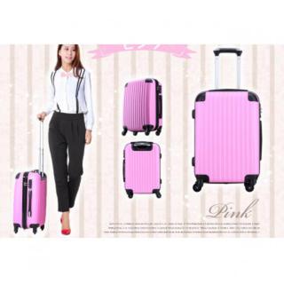 機内持ち込みも可! コインロッカーすっぽりSサイズ♪ ピンク(スーツケース/キャリーバッグ)