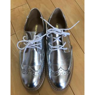 オックスフォードシューズ  シルバー Lサイズ  ローファー(ローファー/革靴)