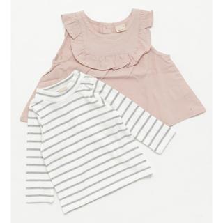 petit main - 新品未使用♡petit main チュニック×テレコボーダーTシャツセット