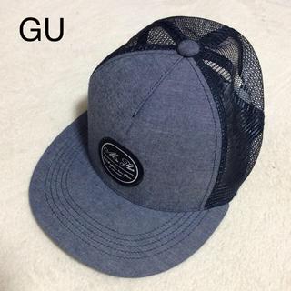 ジーユー(GU)のGU メッシュ キャップ ネイビー(キャップ)