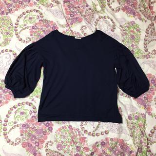 ジーユー(GU)のGU☆ 七分袖 Tシャツ S/ パフスリーブ カットソー(カットソー(長袖/七分))