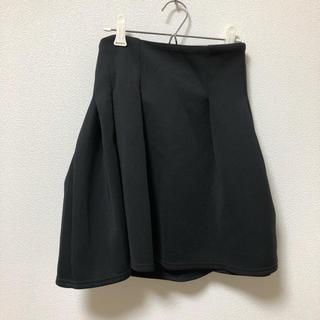 ジーユー(GU)のGUスカート 黒 Mサイズ(ひざ丈スカート)