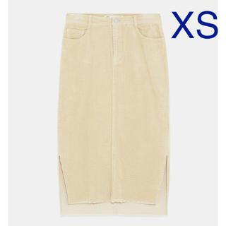 ザラ(ZARA)の【タグ付き新品】ザラ コーデュロイ ペンシルスカート XS(ひざ丈スカート)