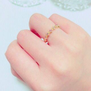 ピンク系スワロのリング(リング(指輪))