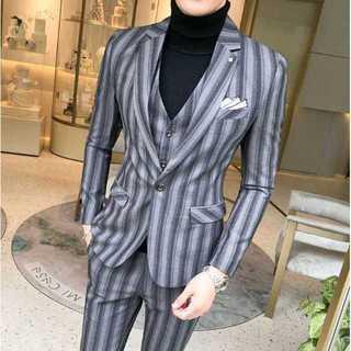 メンズスーツセットアップ大人気エリート定番ビジネス披露宴スリム紳士服 OT048(セットアップ)