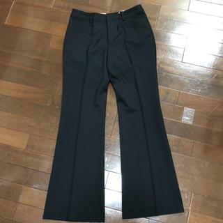 シマムラ(しまむら)のブーツカット黒パンツ 新品未使用 プリーツが取れにくい ウールタッチ(その他)