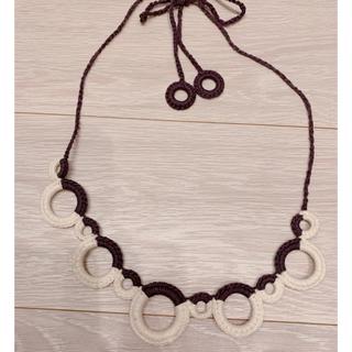 2トーンカラー 編み込みネックレス (ネックレス)