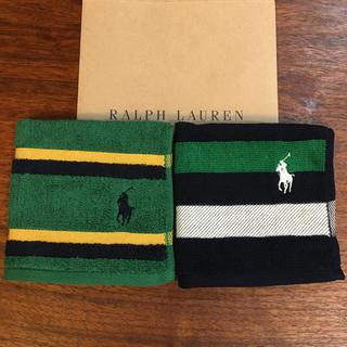 ラルフローレン(Ralph Lauren)の[新品]ラルフローレン タオルハンカチ 2枚セット(ハンカチ/ポケットチーフ)