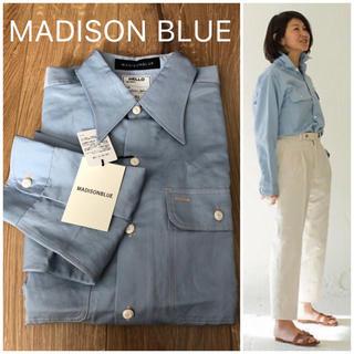 マディソンブルー(MADISONBLUE)の◯新品◯MADISON BLUE コットンシャツ オーバーサイズシャツ(シャツ/ブラウス(長袖/七分))