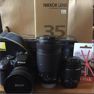 ニコン(Nikon)の【2416万画素】Nikon D3400 本体+レンズ×3(デジタル一眼)