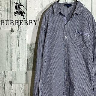 バーバリー(BURBERRY)のバーバリー ブルーレーベル チェックシャツ ワンポイント刺繍ロゴ(シャツ)