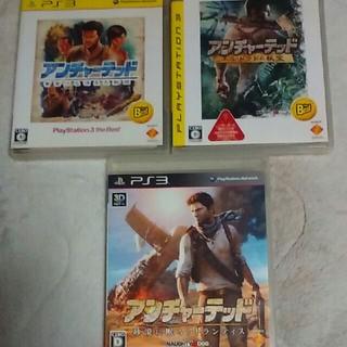 プレイステーション3(PlayStation3)のPS3 アンチャーテッド3作品(家庭用ゲームソフト)