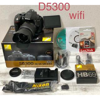 ニコン(Nikon)のWi-Fi内蔵 NiKON D5300 レンズキット(デジタル一眼)