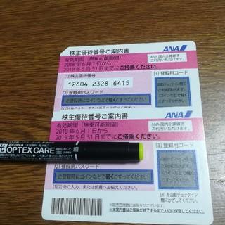 ANA 株主優待券 新品未使用 2枚(航空券)