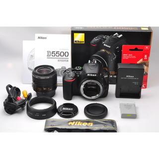 ニコン(Nikon)の❤️簡単自撮り&WiFi対応♪❤️ニコン D5500 レンズキット❤️(デジタル一眼)