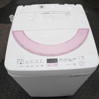 シャープ(SHARP)の人気のピンク SHARP全自動電気洗濯機(洗濯機)