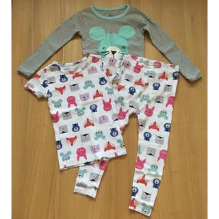 babyGAP - 美品 baby GAP ギャップ パジャマ 長袖 半袖 パンツ セット 100
