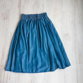 ジーユー(GU)のGU*デニムスカート(ひざ丈スカート)