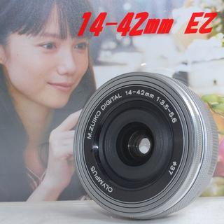 オリンパス(OLYMPUS)の★なめらか電動ズーム 説明書付き!! ★オリンパス14-42mm EZ (レンズ(ズーム))