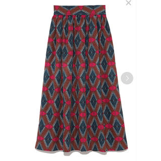 FRAY I.D - タグ付き新品 frayID フレアスカート 赤 茶色 ブラウン