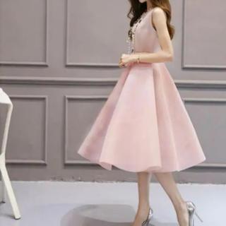 13012b795cbfe エメ(AIMER)のパーティー ドレス ピンク(ミディアムドレス)