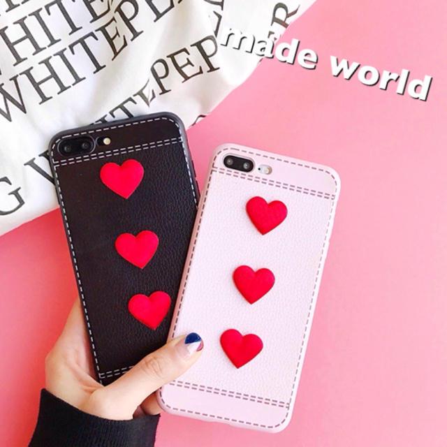 ケイトスペード iphonexr ケース 本物 、 ハート 立体的 3連 iPhoneケース ペアルック インスタ SNS ガーリーの通販 by made_world's shop|ラクマ