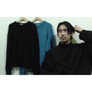 コモリ(COMOLI)のげんじ なかむ着用 オーラリー キッドモヘアニット(ニット/セーター)