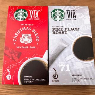 スターバックスコーヒー(Starbucks Coffee)のスタバ VIA スティックタイプコーヒー 2種 24本(コーヒー)