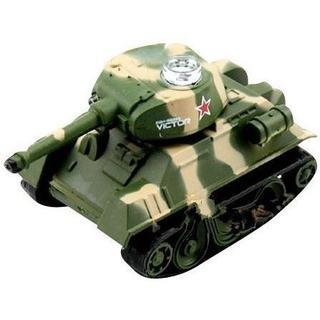 ミニ戦車ラジコン (手の平サイズ)  LED点灯 シャーマン 迷彩柄タイプ(ホビーラジコン)