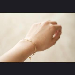 ドットチェーン ブレスレットor アンクレット《gold》(ブレスレット/バングル)