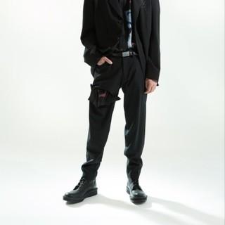 ヨウジヤマモト(Yohji Yamamoto)のyohji yamamoto ブラックスキャンダルパンツ 18aw(スラックス)