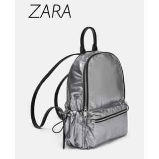 ザラ(ZARA)の【新品・未使用】ZARA ジッパー付き ナイロンバッグパック(リュック/バックパック)