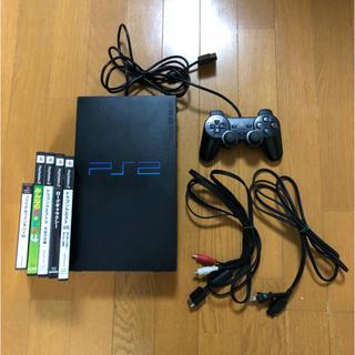 プレイステーション2(PlayStation2)のプレイステーション2+ソフト5本(家庭用ゲーム本体)