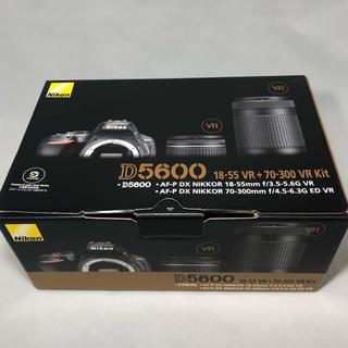 ニコン(Nikon)の新品未使用 Nikon ニコン D5600 ダブルズームキット メーカー保証付き(デジタル一眼)