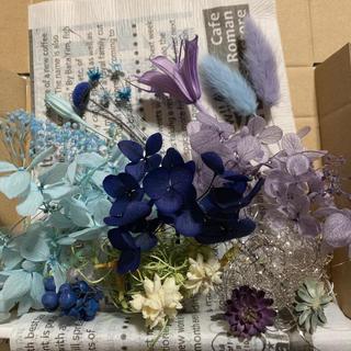 ハーバリウム花材ブルーお試しセットNo.117-156(プリザーブドフラワー)