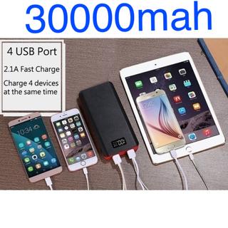 新品 モバイルバッテリー 大容量 69000mah 4USB 携帯 充電器(バッテリー/充電器)