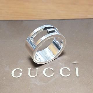 グッチ(Gucci)の[正規品] GUCCI グッチ Gロゴ リング 9号 シルバー 鏡面研磨済(リング(指輪))