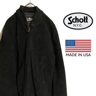 ショット(schott)の古着 USA製 Schott リアルスエード レザー ブルゾン(レザージャケット)