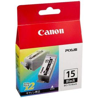 キヤノン(Canon)の【新品】 Canon 純正 インクタンク BCI-15 ブラック(2個パック)(PC周辺機器)